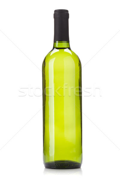 Stock photo: White wine bottle