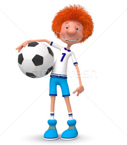Nino futbolista formación atleta mundo taza Foto stock © karelin721