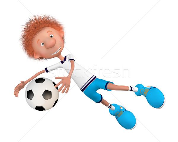 訓練 開始 サッカー 少年 漫画 ストックフォト © karelin721
