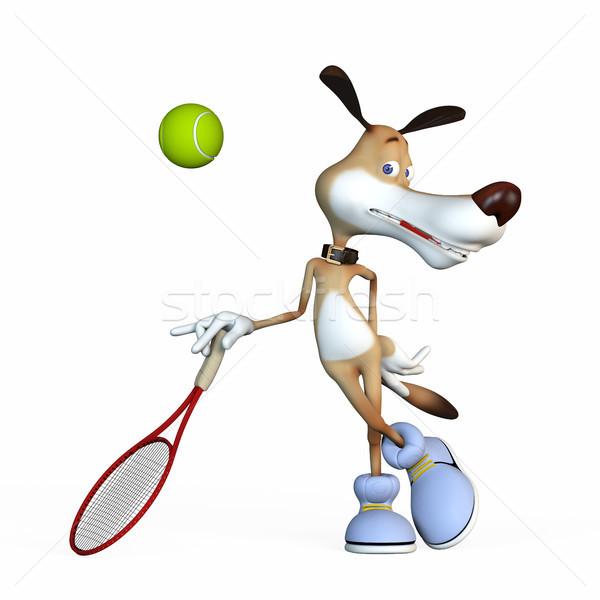 実例 犬 スポーツ テニス 漫画 ストックフォト © karelin721
