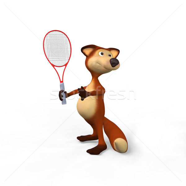 Foxes and tennis Stock photo © karelin721
