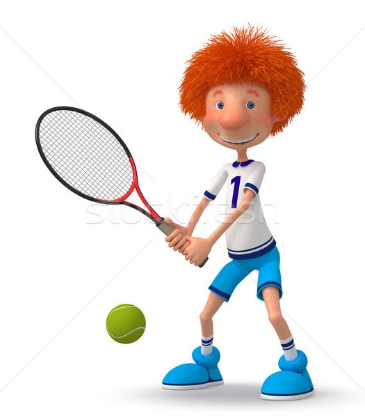 Nino formación pista de tenis jóvenes atleta Foto stock © karelin721