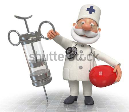 The 3D doctor with a syringe. Stock photo © karelin721