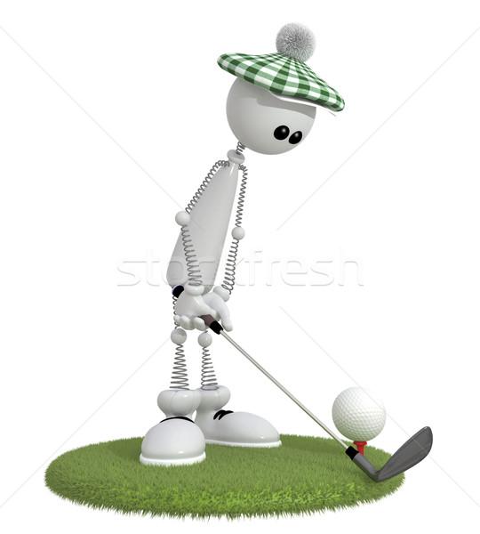 3D pequeño hombre juego mejor ocupación Foto stock © karelin721