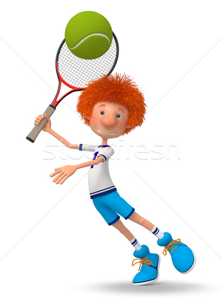 Boy tennis player Stock photo © karelin721