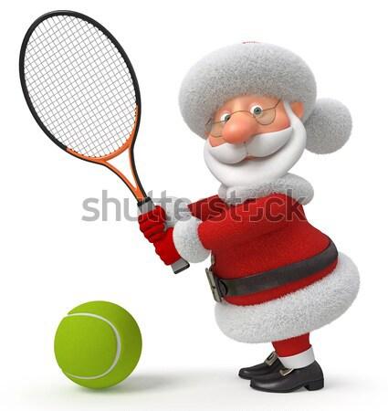 3D pequeño hombre pelota blanco persona Foto stock © karelin721