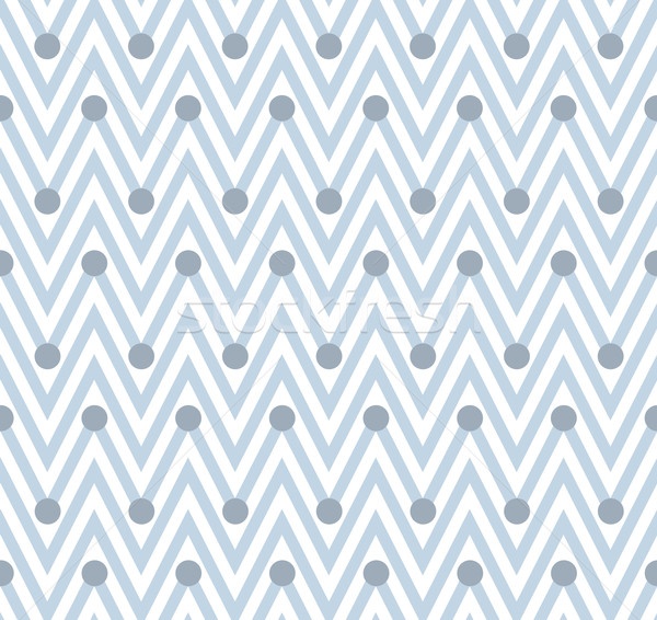 Pale Blue and White Horizontal Chevron Striped with Polka Dots B Stock photo © karenr