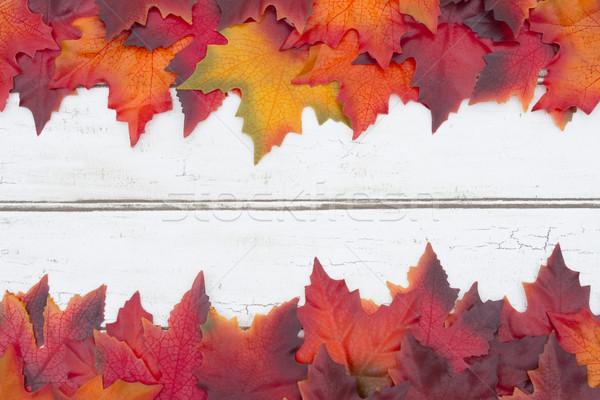 Grunge madeira centro laranja outono Foto stock © karenr