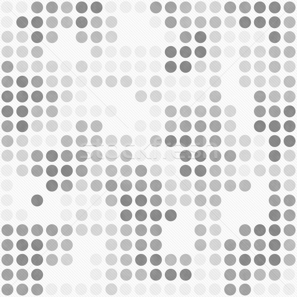 Gray and White Polka Dot Mosaic Abstract Design Tile Pattern Rep Stock photo © karenr