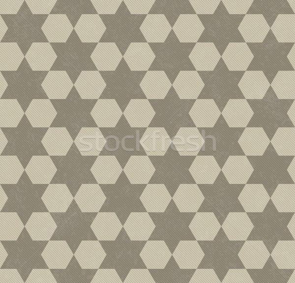 Bege hexágono tecido sem costura textura Foto stock © karenr