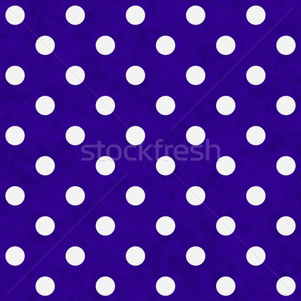 White Polka Dots on Purple Textured Fabric Background Stock photo © karenr