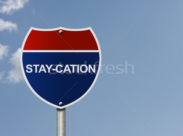 Taking a stay-cation Stock photo © karenr