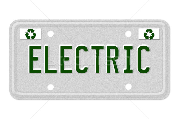 Electric Car License Plate Stock photo © karenr