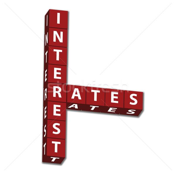 Rood brieven woorden geïsoleerd witte Stockfoto © karenr