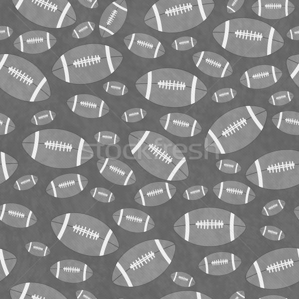 Gray Football Tile Pattern Repeat Background Stock photo © karenr