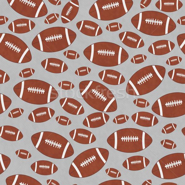 Bruin grijs voetbal tegel patroon herhalen Stockfoto © karenr