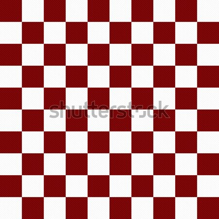 Dark Red and White Checkers on Textured Fabric Background Stock photo © karenr
