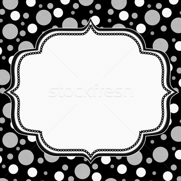 Grigio bianco nero frame ricamo Foto d'archivio © karenr