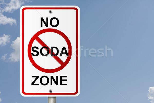 Não soda americano placa sinalizadora céu cópia espaço Foto stock © karenr