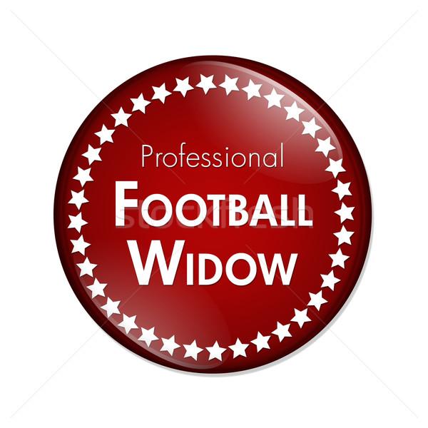 プロ サッカー 未亡人 ボタン 赤 白 ストックフォト © karenr