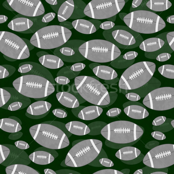 Gray and Green Football Tile Pattern Repeat Background Stock photo © karenr