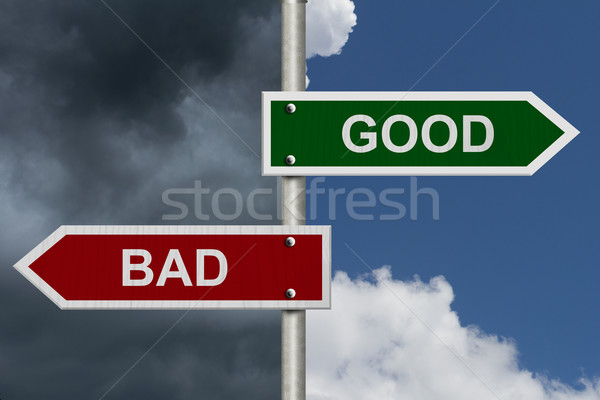 Good versus Bad Stock photo © karenr
