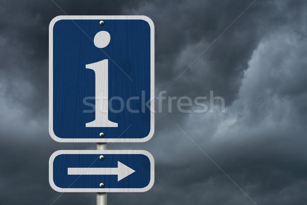 Information Sign Stock photo © karenr