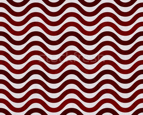 Vermelho cinza ondulado tecido sem costura Foto stock © karenr