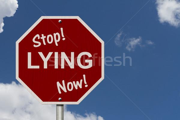 Stoppen nu teken amerikaanse verkeersbord woorden Stockfoto © karenr