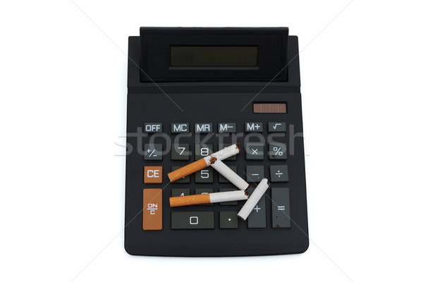 Calculating the cost of smoking Stock photo © karenr
