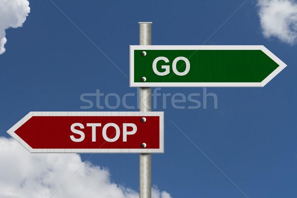Stop versus Go Stock photo © karenr