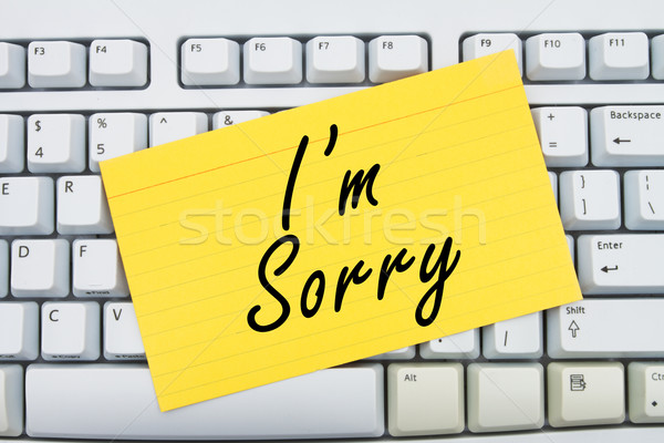 I'm Sorry Stock photo © karenr