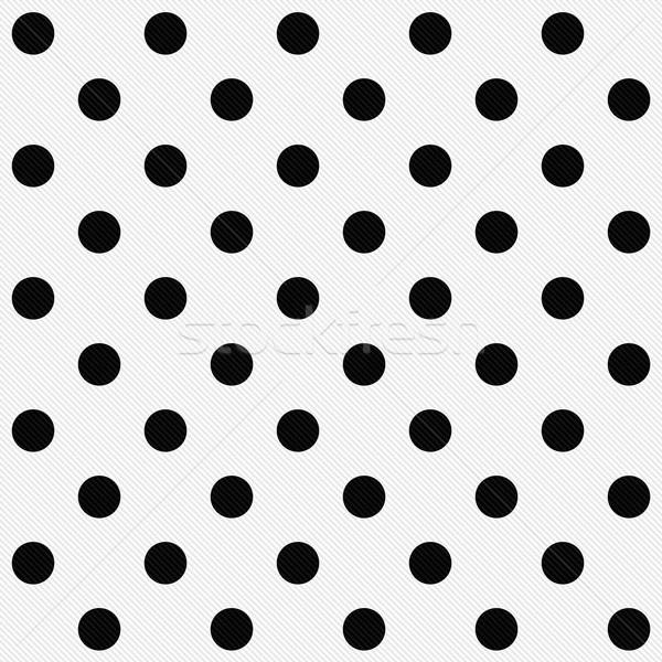 черный белый ткань бесшовный Сток-фото © karenr