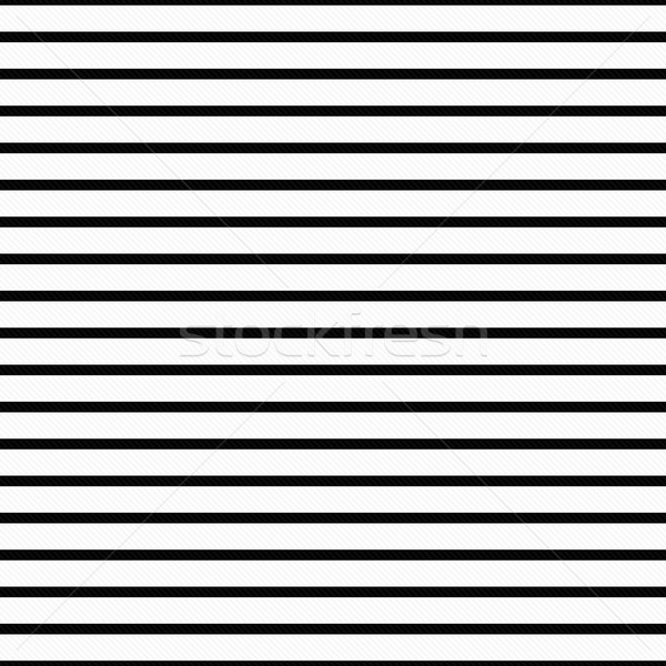 Thin Black and White Horizontal Striped Textured Fabric Backgrou Stock photo © karenr