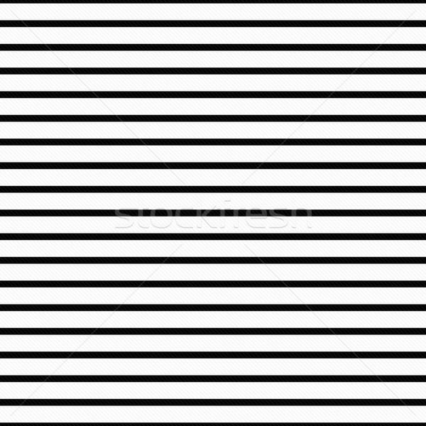 Léger blanc noir horizontal rayé tissu Photo stock © karenr
