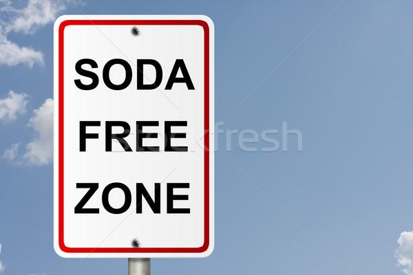 Soda Free Zone Stock photo © karenr