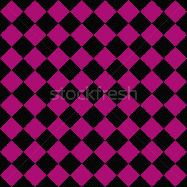 Preto rosa diagonal tecido sem costura Foto stock © karenr