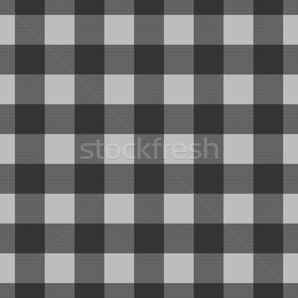 Black and Grey Plaid Striped Lumberjack Textured Fabric Backgrou Stock photo © karenr
