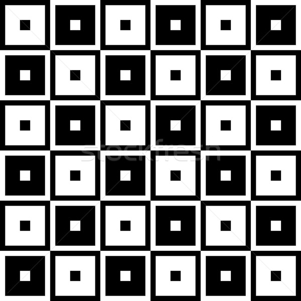 Black and White Tapestry Square Fabric Background Stock photo © karenr