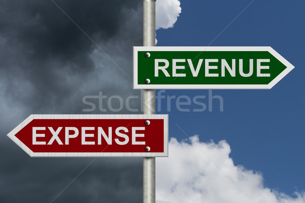 Revenue versus Expense Stock photo © karenr