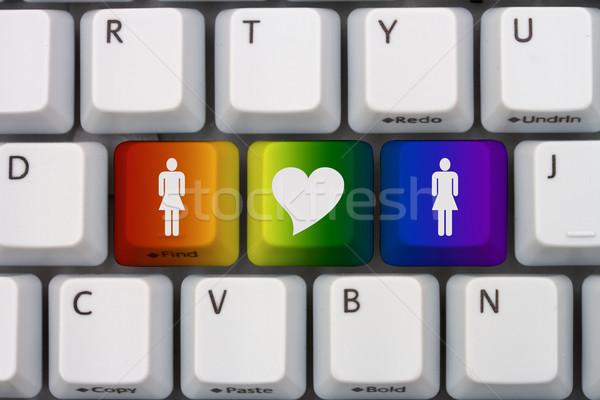 Online dating szary kobieta symbol Zdjęcia stock © karenr