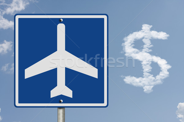 Cost of airline tickets Stock photo © karenr