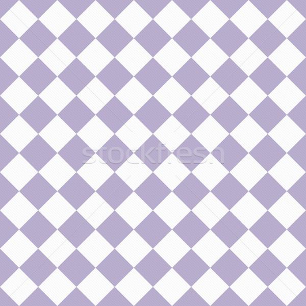 Soluk mor beyaz diyagonal kumaş Stok fotoğraf © karenr