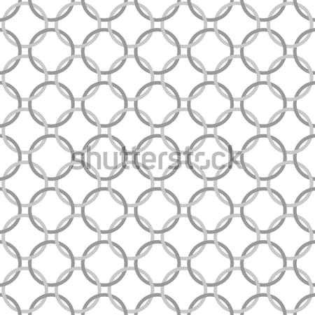 Orange, Gray and White Interlaced Circles Textured Fabric Backgr Stock photo © karenr