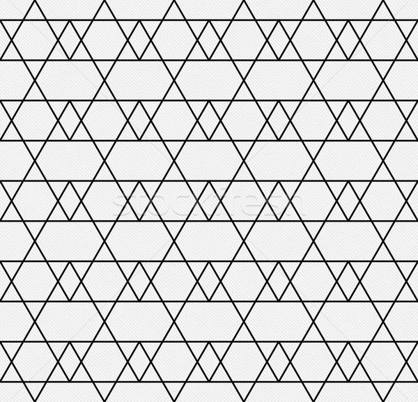 Zwart wit lijn zigzag weefsel naadloos Stockfoto © karenr
