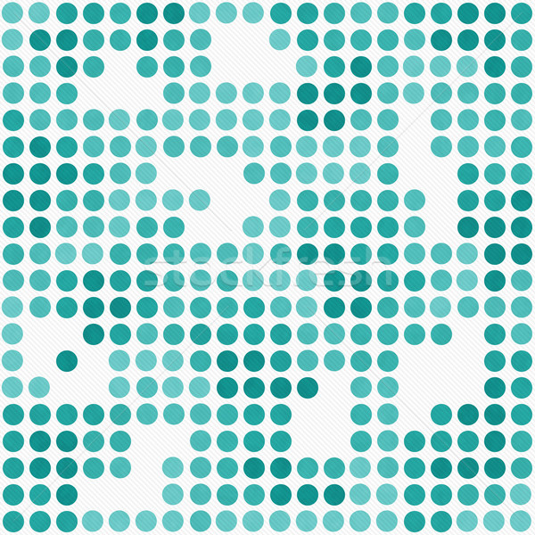 Teal and White Polka Dot Mosaic Abstract Design Tile Pattern Rep Stock photo © karenr