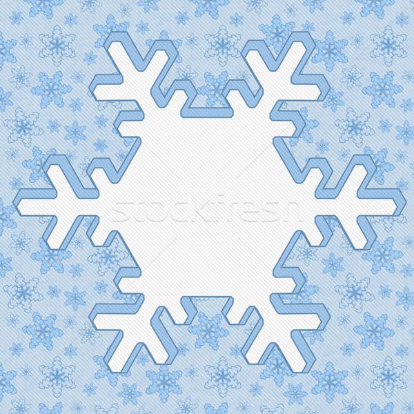 Inverno tempo azul floco de neve centro cópia espaço Foto stock © karenr