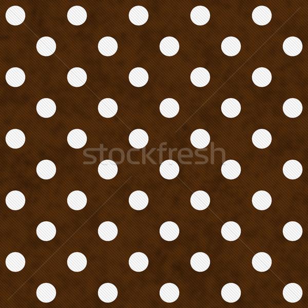 Fehér pöttyös barna mintázott szövet végtelenített Stock fotó © karenr