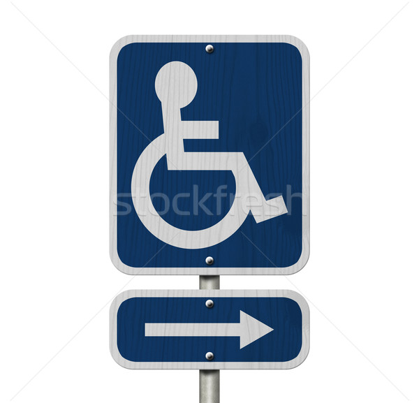 Handicap Parking Sign Stock photo © karenr