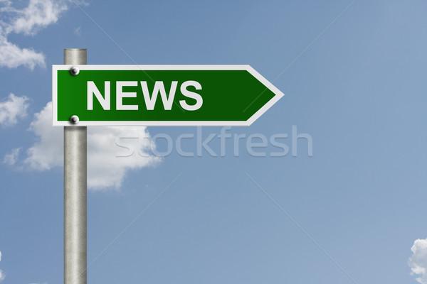 Noticias americano senalización de la carretera cielo espacio de la copia mensaje Foto stock © karenr